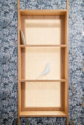 dettaglio parete divisoria cabina armadio