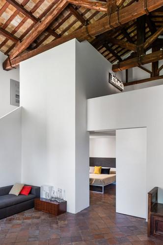 il soggiorno a doppia altezza
