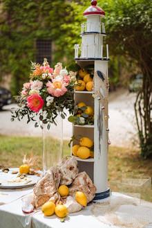 Buffet di aperitivo nella pineta