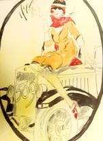 Girl On A Vintage Car