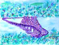 Purple Tappan Zee Bridge