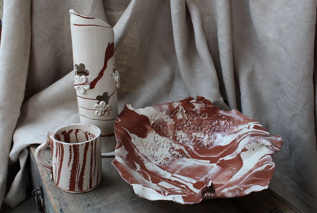 SolidagoCeramics Agateware series