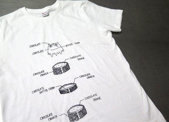 たぬきさん白Tシャツ