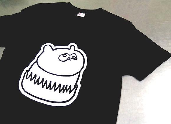 たぬきさん黒Tシャツ
