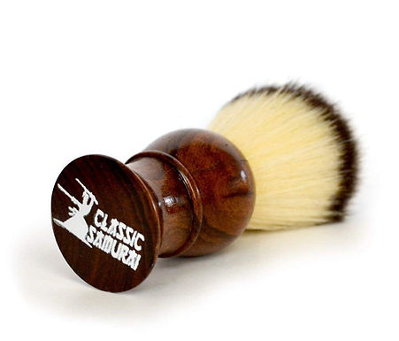 B-101 Classic Samurai Synthetic Shaving Wood Handle Brush