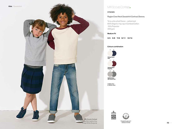 SquareNuts collection enfant mini scout contrast