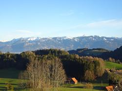 Aussicht auf Vorarlberger Alpen