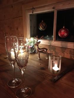 Cüpli mit Weihnachtsstimmung
