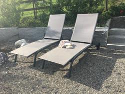 Relaxen auf dem Gartensitzplatz