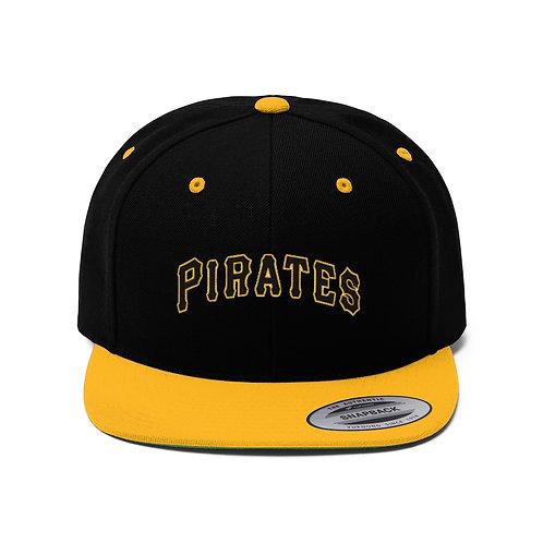 PIRATES Unisex Flat Bill Hat