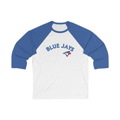 BLUE JAYS Unisex 3/4 Sleeve Baseball Tee