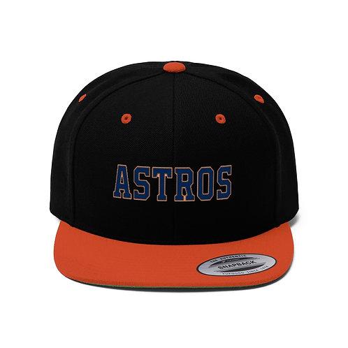ASTROS Unisex Flat Bill Hat
