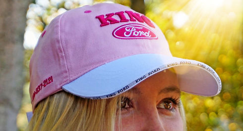 Pink custom embroidered hat
