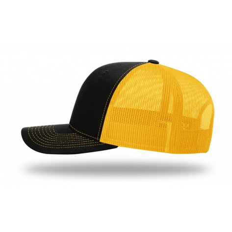 Black and Gold Trucker