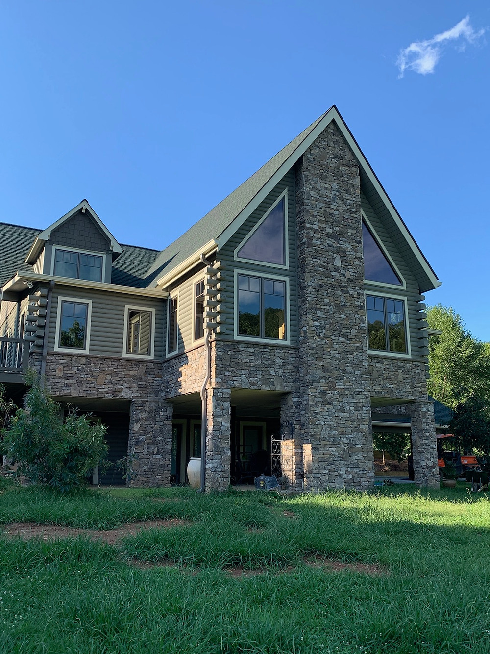 Natural Stone Installed on Exterior of House