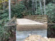 bridge over creek under construction