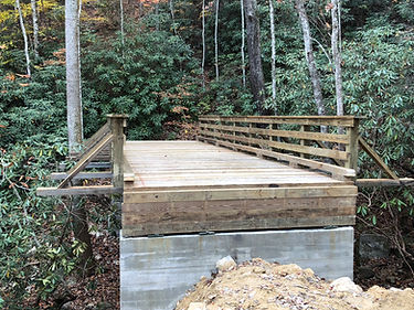 bridge over creek under construction