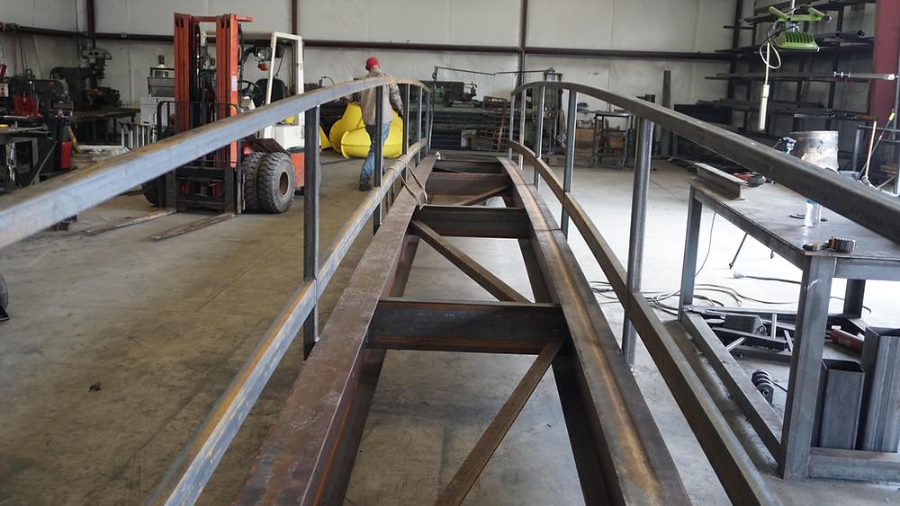 pedestrian walkway prefabrication welded steel