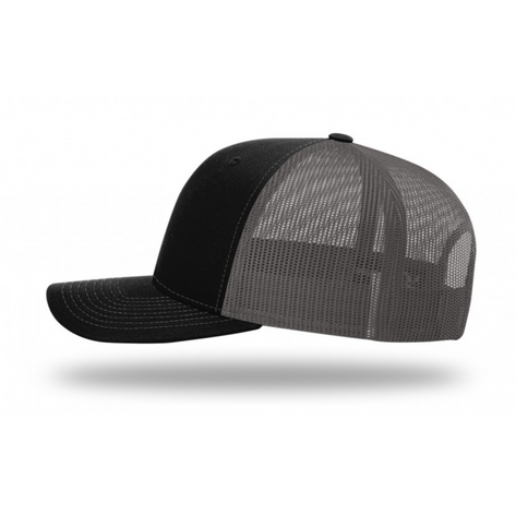 Black and Charcoal Trucker