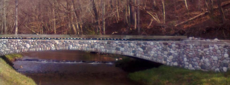 Vehicular Bridge River Rock Veneer