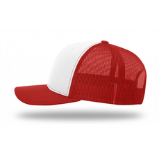 White and Red Trucker