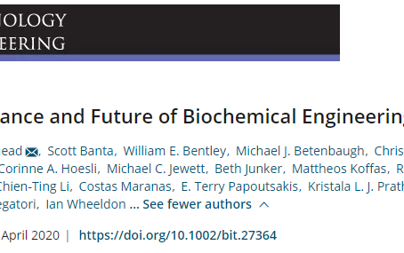 Publication: The Importance and Future of Biochemical Engineering