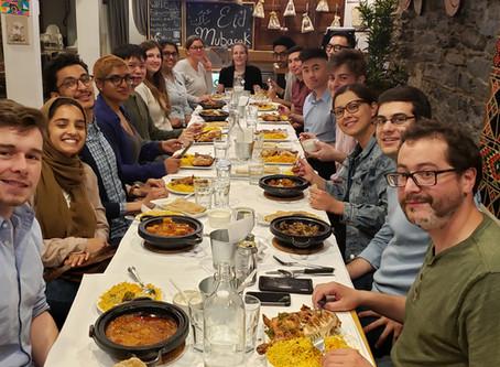 Hoesli family dinner to celebrate new beginnings!