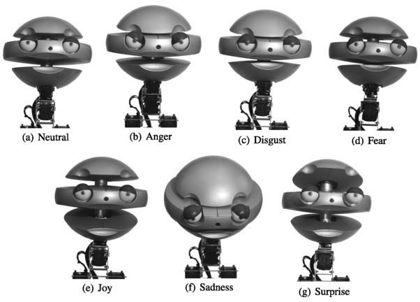 Expressões faciais do robô Emys.