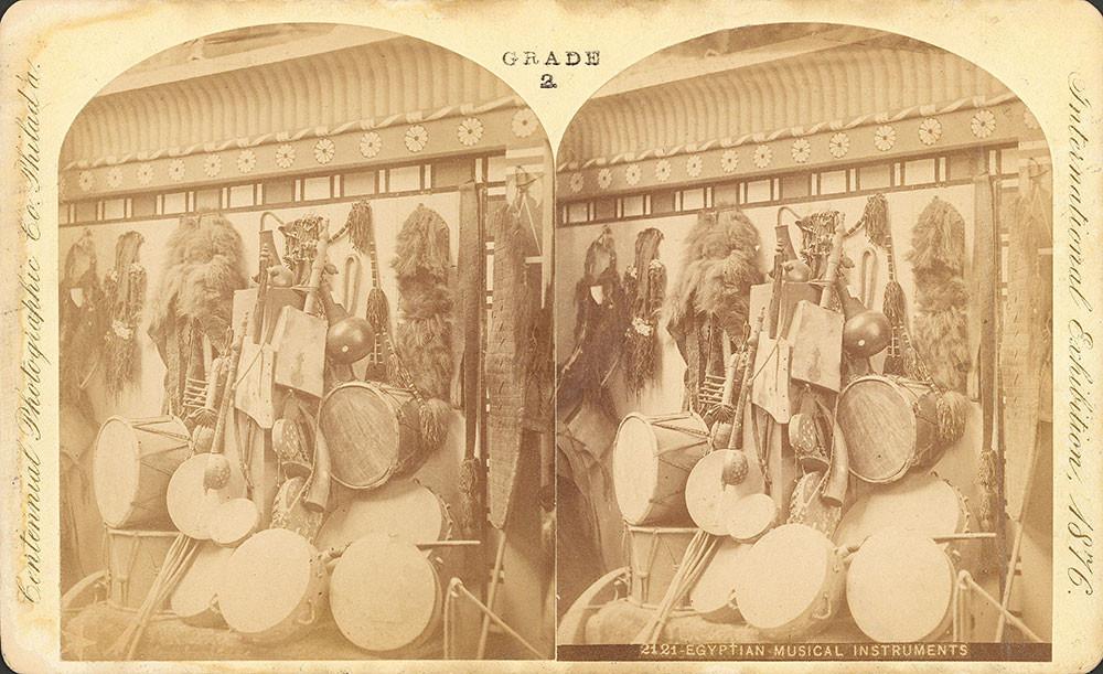 """Egyptian musical instruments."" Centennial Photographic Co."