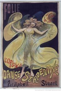 Folies-Bergère, L'originale danse serpentine par Mabel Stuart : [affiche] / [Alfred Choubrac]