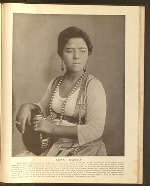 """""""Amina (Egyptian)."""" Oriental and Occidental, Northern and Southern: Portrait Types of the Midway Plaisance. St. Louis: N.D. Thompson, 1894."""