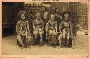 Javanese Kampong. Universal Exhibition in Paris [France], photocard, 1889