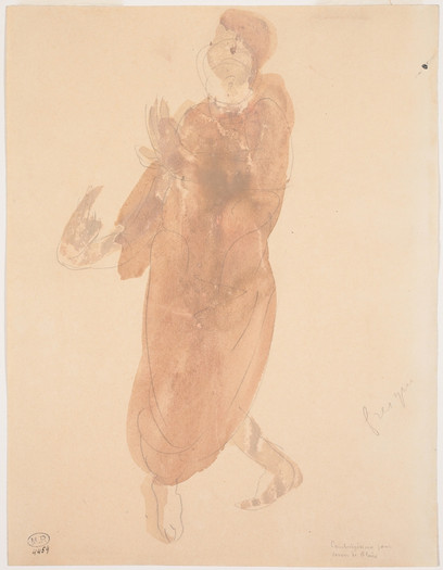 """Cambodian dancer three quarters to the left.""  July 1906. Auguste Rodin (1840 -1917)"