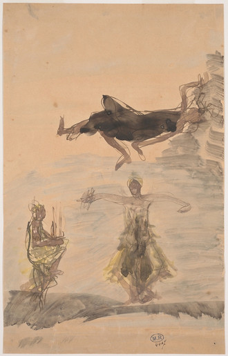 """""""Three Cambodian dancers."""" July 1906. Auguste Rodin (1840 -1917)"""