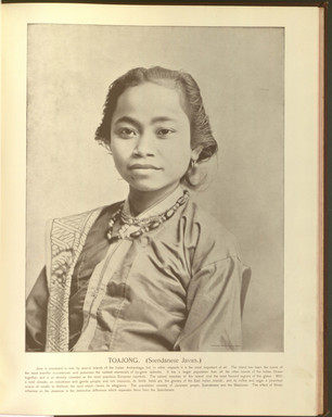 """""""Toajong (Javanese)."""" Oriental and Occidental, Northern and Southern: Portrait Types of the Midway Plaisance. St. Louis: N.D. Thompson, 1894."""