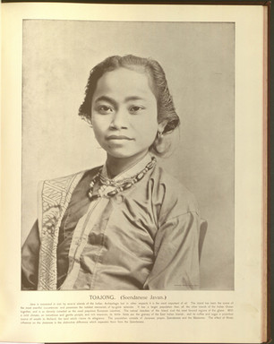 """Toajong (Javanese)."" Oriental and Occidental, Northern and Southern: Portrait Types of the Midway Plaisance. St. Louis: N.D. Thompson, 1894."