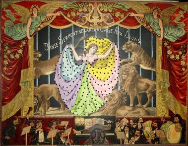 Théâtre d'ombres chinoises et tableaux lumineu, Loïe Fuller dance in the lion cage