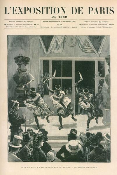 1889.10.12 - L'Exposition de Paris - La Danse Canaque Detail