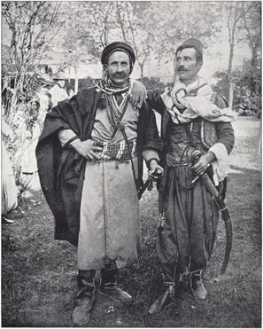 """Swordsmen from Damascus."" Buel, J.W. Magic City. St. Louis: Historical Publishing, 1894."