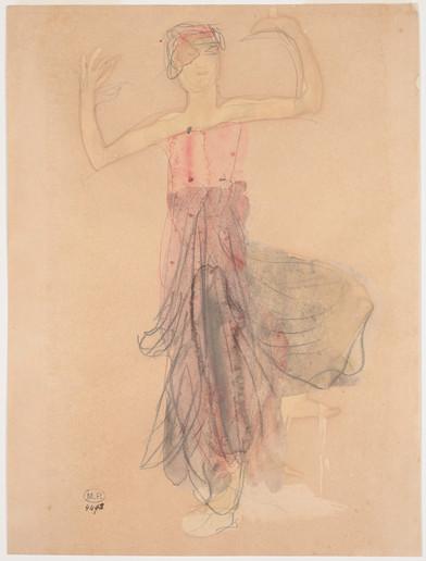 """Cambodian dancer face called Le Printemps."" July 1906. Auguste Rodin (1840 -1917)"