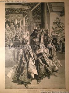1889 Exposition Universelle Paris - Procession des Bronzes dans la Pagode Annamite