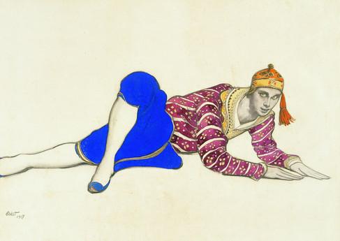 Leon Bakst, Costume design for chinese dancer, 1917
