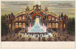 The Palace Lumineux Postcard, Exposition Universal, 1900, Paris, France.