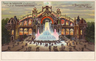 The Palace Lumineux Postcard, Exposition Universal, 1900, Paris, France.