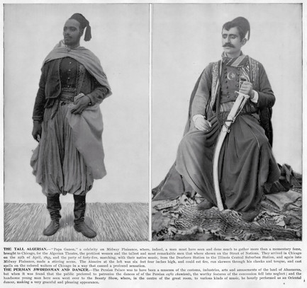 """""""The Tall Algerian, and the Persian Swordsman and Dancer."""""""