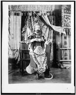 Actor from Theatre Annamite, full-length portrait, in costume, Paris Exposition, 1889