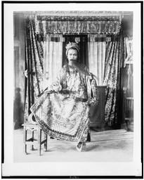 Actor, from Theatre Annamite, full-length portrait, in costume, Paris Exposition, 1889