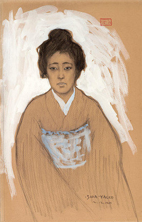 Porträt der Schauspielerin Sadayakko (December 12, 1901). Emil Orlik