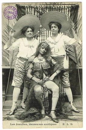 """The Joevitas, Exotic Dancers at the 1906 Colonial Exhibition, Paris."" 1906 Paris Exposition Coloniale"