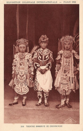 Children from Cochinchina Theatre Play in Cambodian Costumes, 1931 Paris Colonial Exposition